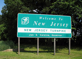 Welcome to New Jersey State Sign